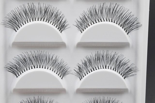 5 Pairs Natural Black Long Sparse Cross False Eyelashes Fake Eye Lashes Extensions Makeup Tools 3