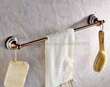 цена Rose Gold Brass Wall Mounted Single Towel Bar Towel Rack Towel Holder Bathroom Accessories Kba381 онлайн в 2017 году