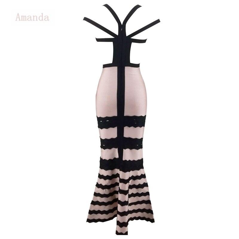 Épaule Festa Longueur Maxi Femmes Off Étage Body Soirée Babatique Sirène Robe Dos De Bandage Nu 1clFTKJ