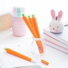 Novelty Fresh Carrot Gel Pens Promotional Gift Kawaii Gel Ink Pen School Supplies Office Stationary Canetas Material Escolar