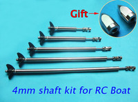 Free Shipping 4mm RC Boat Drive Shaft Stainless Steel Shaft Sleeve 2 Blades Propellers Universal Joint