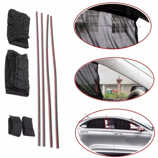 1 Set 70 x 39 cm Black Universal Car Curtain Cover Sunshade Sun Shade Insulation