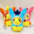 3pcs/lot  Plush Toys Cosplay  Pikachu Mega Charizard Cotton Stuffed Animals Dolls Toys kids Christmas Gifts