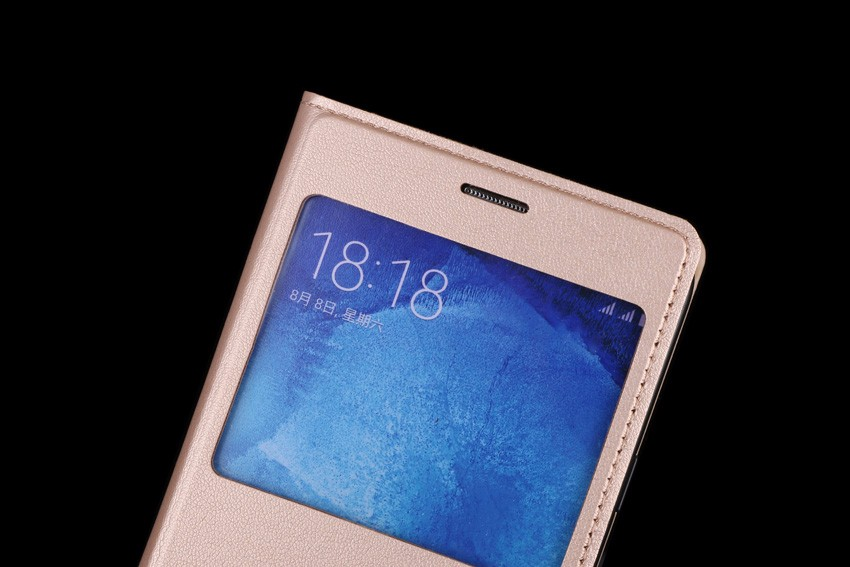 Slim View Window Flip Case for Samsung Galaxy J5 2015 - Բջջային հեռախոսի պարագաներ և պահեստամասեր - Լուսանկար 2