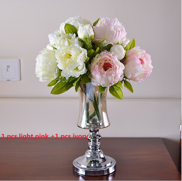 7 heads peony flowers bridal bouquet marriage artificial flower 7 heads peony flowers bridal bouquet marriage artificial flower home decoration floral ornament arrangement table centerpiece in artificial dried mightylinksfo