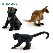 Simulation Little Bear Kangaroo Monkey Animal model figurine home decor miniature fairy garden decoration accessories gift toys