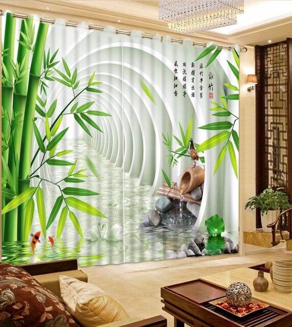 Moderne 3D Fenster Vorhang Für Das wohnzimmer Bambus Vorhänge ...