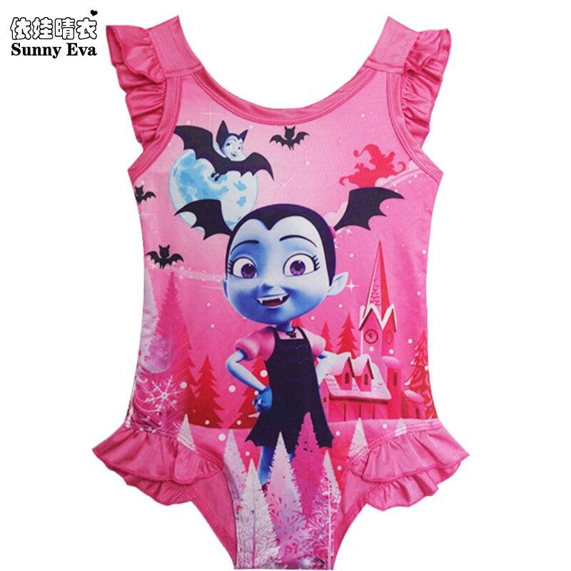 8c859141d Soleado eva chicas traje de baño de impresión de dibujos animados de  milagrosa mariquita Vampirina una pieza-traje de baño