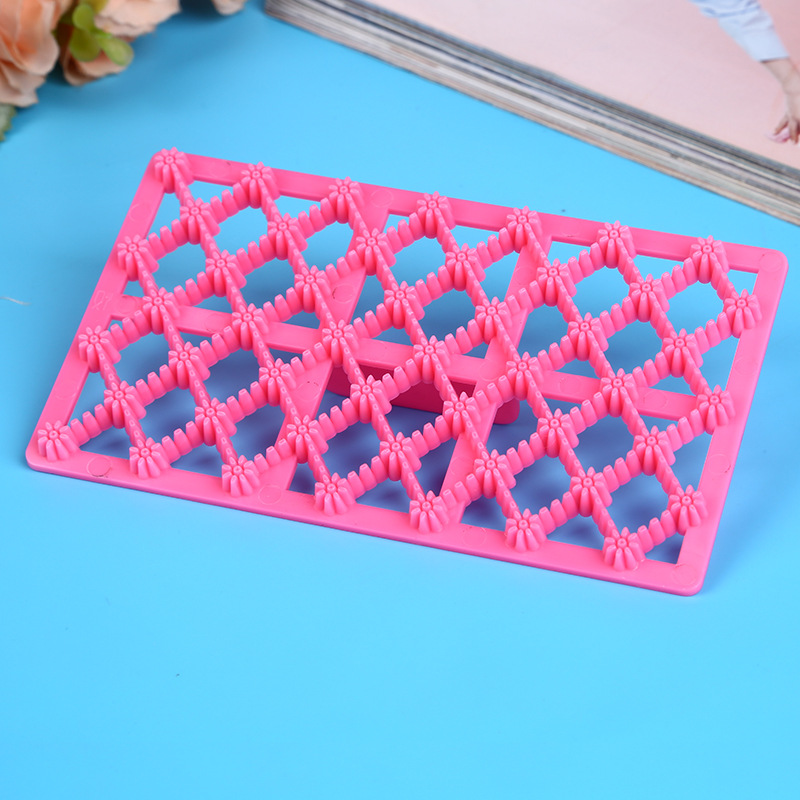 Promotions Creative Hollow Meshed Flower Shape Fondant Cupcake Embosser Cutter Mold Icing Embossing Biscuit Sugar Craft Cake in Baking Pastry Tools from Home Garden