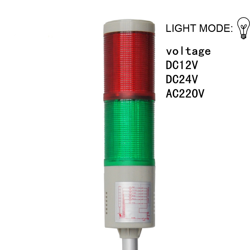 LTA-205-2 Bulb Signal Machine Tower Light Bright 2 Color Machine Tool Warning Lamp Indicator Light AC220V DC12V DC24V lta 505 dc24v 4 layers led signal tower light alarm indicator lights led tower lamp