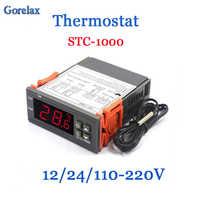 Digital Thermostat Temperature Regulator Controller 12V 24V 220V Thermoregulator, Room Thermostat Incubator Termometro STC 1000