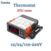 Digital Thermostat Temperature Regulator Controller 12V 24V 220V Thermoregulator, Room Thermostat Incubator Termometro STC 1000