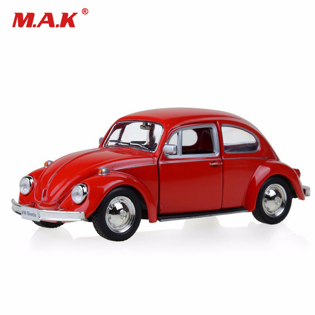 Cast Model Car Red 1 32 Scale Beetle 1967 Clic Pull Back Toys Collection