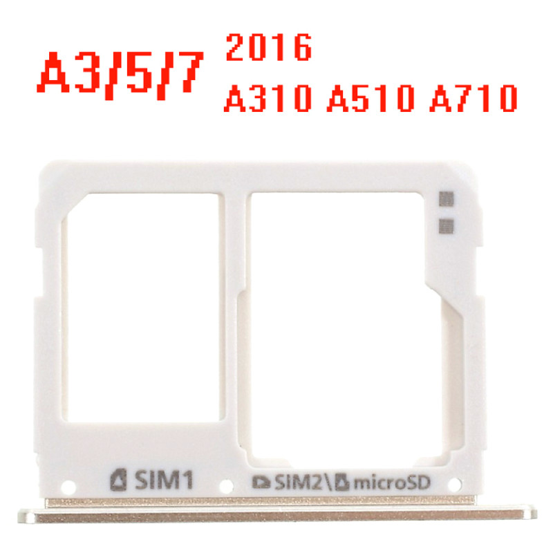 New For Samsung Galaxy A3 A310F A710 A5 A510 2016 SIM Card Tray Holder Slot Adapter Parts Gold Silver Gray Pink Color