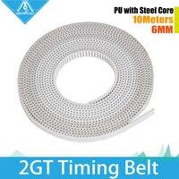 5M Lot 3D Printer Part Accessory PU With Steel Core GT2 Open Timing Belt Width 6mm
