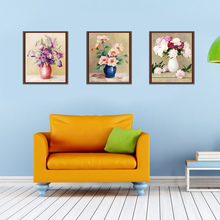 1pcs 5D diamond embroidery diamond mosaic Oil painting flowers picture 5D diy diamond painting cross stitch needlework flores