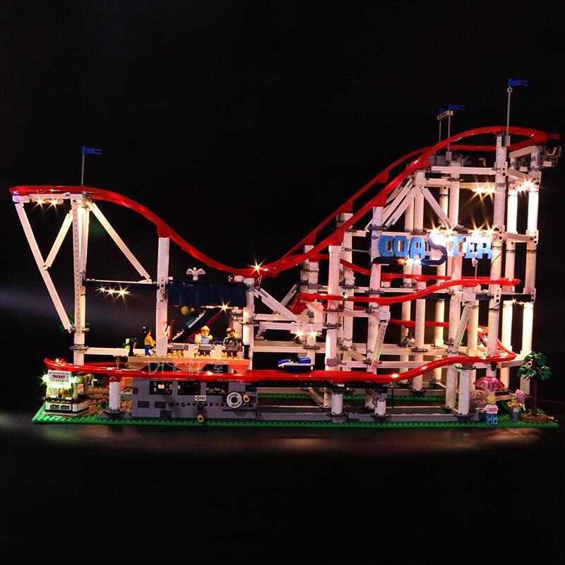 Zestaw światła Led do obsługi Lego 10261 roller coaster kompatybilny 15039 miasto creator klocki klocki zabawki (tylko LED światło) w Klocki od Zabawki i hobby na  Grupa 2
