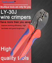купить LY-30J Crimping Tools Pliers for 22-10 AWG 0.5-6.0mm2 of Insulated Car Auto Terminals & Connectors Crimping Plier wire дешево