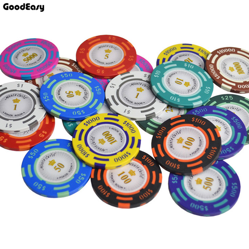 25 шт./лот профессиональных Техас Фишки для покера Развлечения доллар монеты 14 г Цвет липкой глины чипы валюта оптовая дешевые чипы