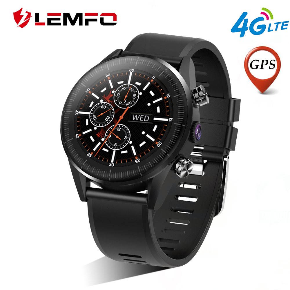 LEMFO KC05 Smart Watch Android 7.1.1 LTE 4G Sim WIFI 1.39 Inch 400*400 AMOLED Display GPS Heart Rate Smartwatch for Men Women