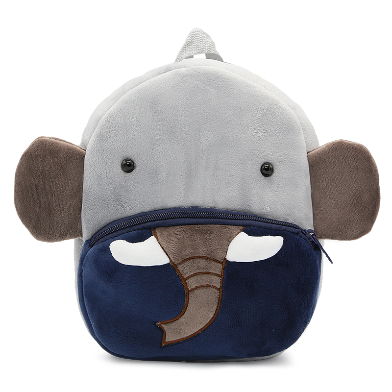 Cute Cartoon Animal Elephant School bag for Kid Baby Girl Boy Plush Satchel Toddle Children Small Soft  Kindergarten Bags School Bags     - title=