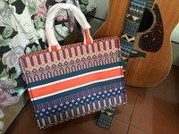 2018 Новая мода сумка женщины холст вышивка женская сумка хозяйственная сумка Удивительные Повседневное Tote Бесплатная доставка