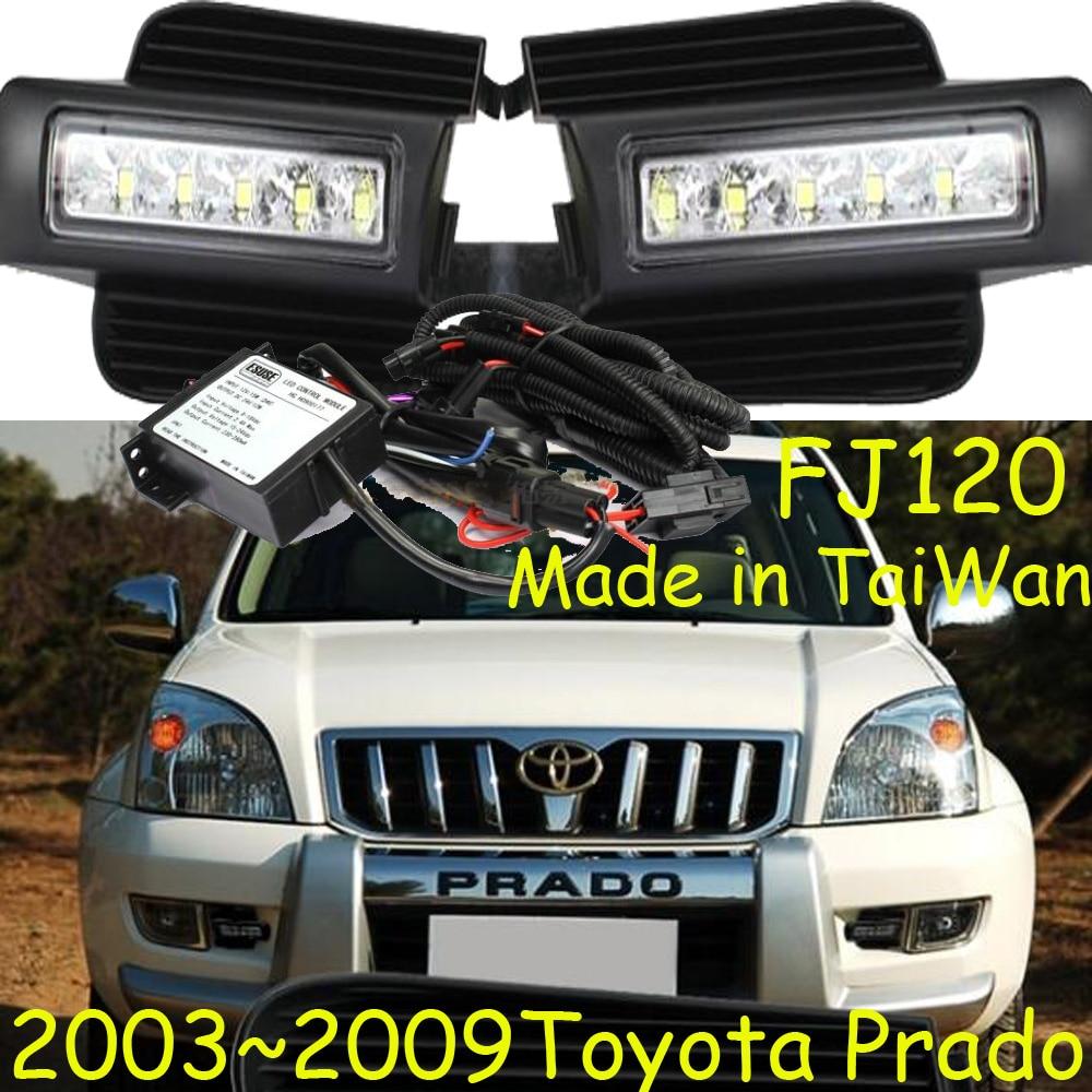 car-styling,Prado daytime light,LC120 LC150 2700 4000,2003~2009/2010~2013,Free ship! led,2pcs/set,Prado fog light;car-covers 2013 2016 innova daytime light free
