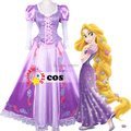 2017 sexy costumes for women Disnye Tangled Rapunzel cosplay costume Adult Princess Rapunzel Dress Cosplay Carnival costume
