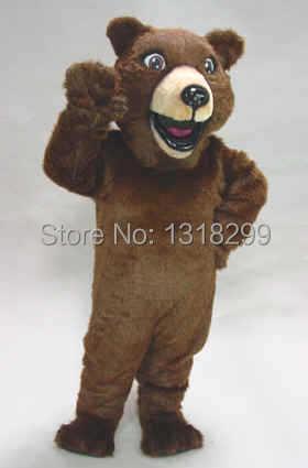 Mascotte heureux brun fourrure ours mascotte costume déguisement personnalisé fantaisie costume cosplay thème mascotte carnaval costume kits