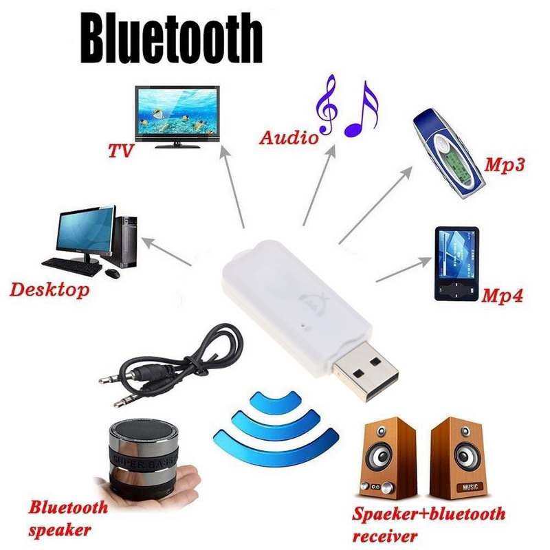 Bluetooth Car Kit Bluetooth Wireless USB Receiver V5 0 Audio Music Adapter  For Car Home Speaker For iphone