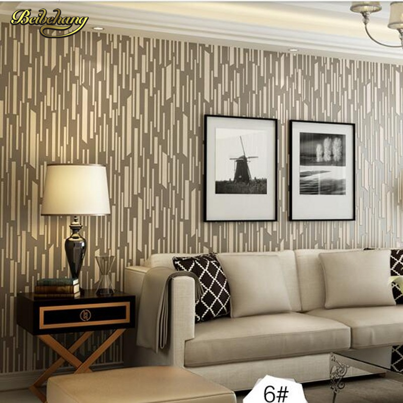 beibehang papel de parede 3d wallpaper Vertical stripes modern minimalist bedroom living room sofa TV background 3D wall paper beibehang wallpaper modern minimalist living room bedroom room 3d vertical stripes flocked wallpaper tv backdrop 3d wallpaper