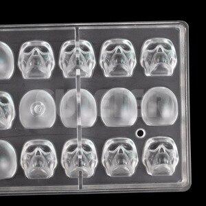 Image 4 - ליל כל הקדושים 3D גולגולת צורת פוליקרבונט שוקולד עובש DIY מטבח קונדיטוריה כלים עוגת קישוט אפיית סוכריות עובש
