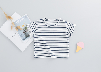 HYLKIDHUOSE 2019 Summer Baby Girls Clothing Sets Infant Clothes Suits Stripe T Shirt Strap Shorts Kids Children Vacation Costume 4
