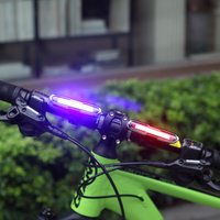 5 Modes Dual Color Red Blue USB Rechargeable Super Bright COB LED Bicycle Bike Cycling Rear