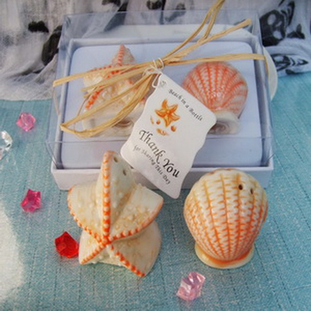 200pcs 100boxes lot beach themed party gift ceramic