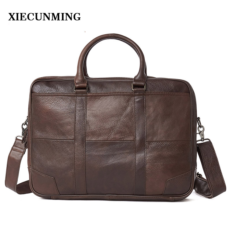 2018 Best Selling Men's Briefcase Handbag Men's Messenger Bag Travel Laptop Bag Men's Business Leather Briefcase Men's Leather