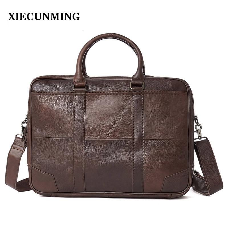 2019 Best selling men's briefcase handbag men's Messenger bag travel laptop bag men's business leather briefcase men's leather