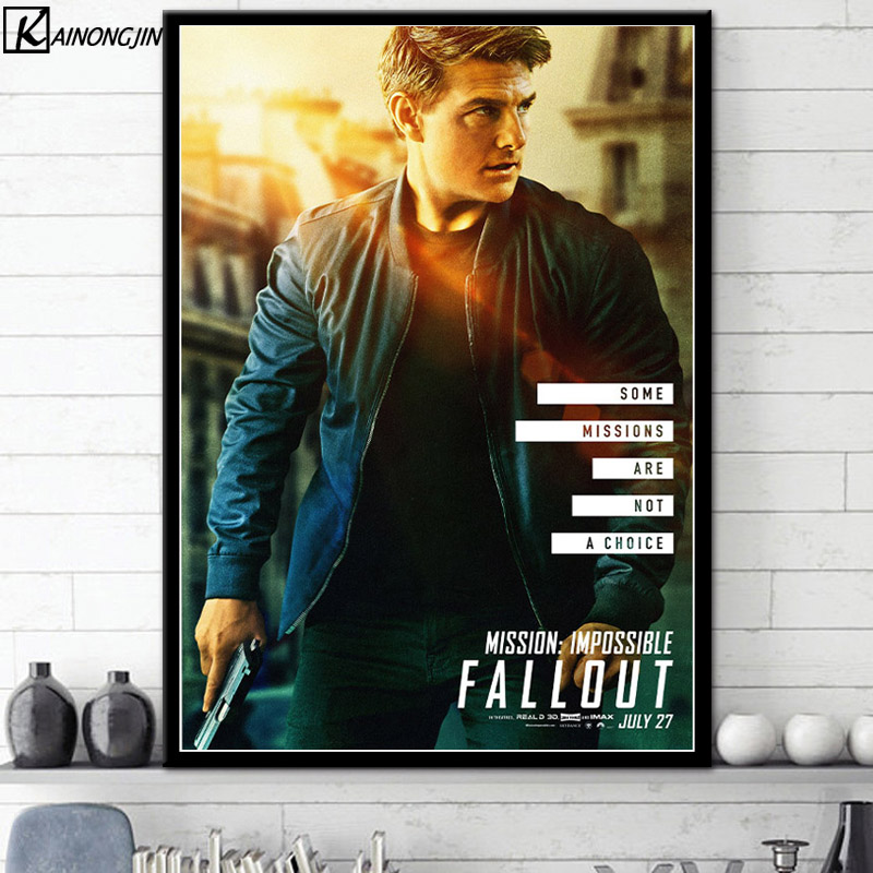 Mission Impossible Fallout Movie Silk Canvas Poster 12x18 20x30 inch