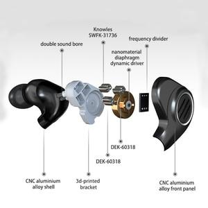 Image 5 - سماعات BGVP DMS 1DD + 6 BA للسائقين من Hybird داخل الأذن سماعات سلكية دي جي ستيريو عالي الدقة Mmcx مع كابل قابل للفصل