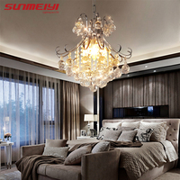 Luxury Crystal Chandelier Living Room Lamp lustres de cristal indoor Lights Crystal Pendants For Chandeliers Free shipping