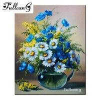 FULLCANG Diy 5d Diamond Mosaic Full Square Diamond Embroidery Daisy Flowers Diamond Painting Cross Stitch Kits