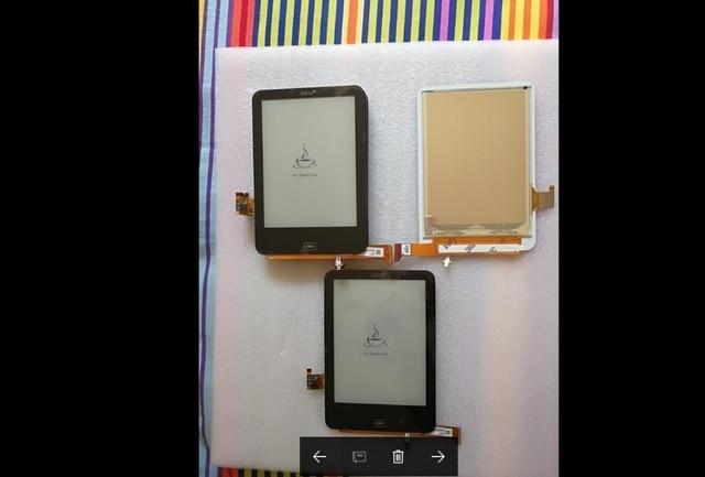 ED060KC1 100% mới hiển thị LCD đối với Tolino E-Ink 1448x1072 ED060KC1 (LF) C1-S1 300 dpi reader LCD Hiển Thị