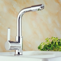 HNGCHOIGE Chrome 360 Degree Swivel Alloy Kitchen Mixer Cold Hot Basin Sink Tap Faucet