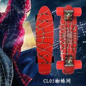 Image 1 - Spider Người Đàn Ông Đồ Họa Đầy Màu Sắc 22 Mini Skate Penny Board Trẻ Em Nhựa Fishboard Cruiser Hoàn Thành Retro Banana Ván Trượt Patins
