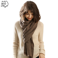 2018 New yak velvet plain warm shawl for men Muslim Hijab women's autumn headscarf worsted winter cashmere scarfves women scarf