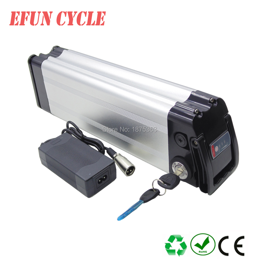 Free shipping Silver fish style 36V 10Ah Li-ion seat tube battery pack 18650 rechargeable battery for city bike with 42V chargerFree shipping Silver fish style 36V 10Ah Li-ion seat tube battery pack 18650 rechargeable battery for city bike with 42V charger