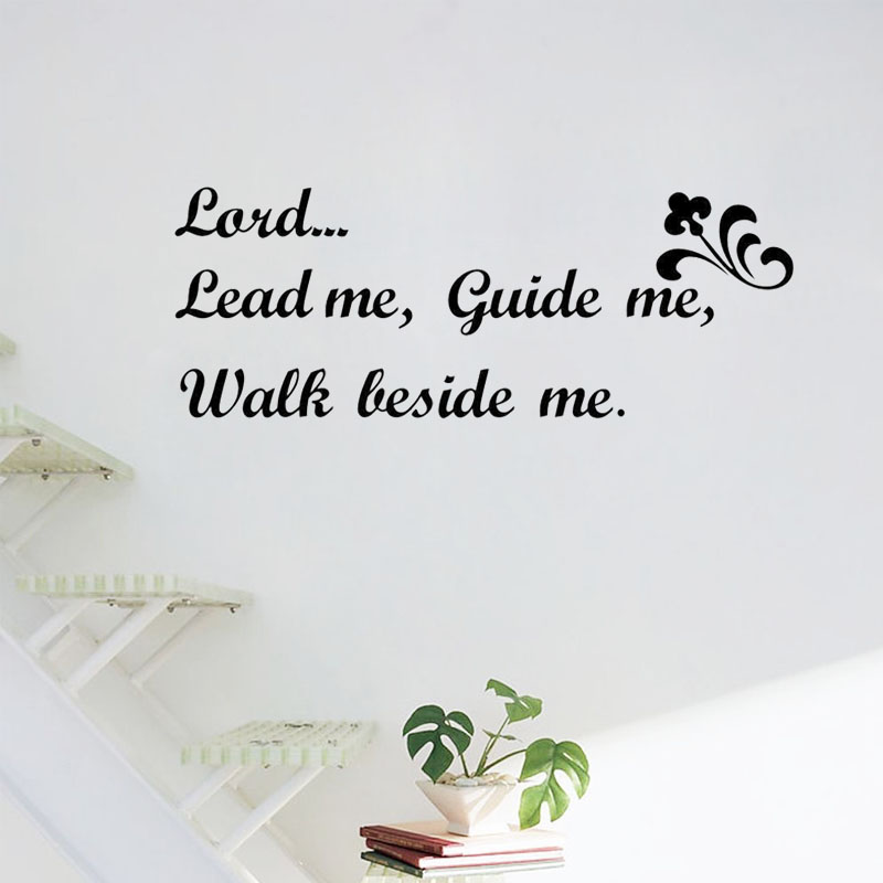 ZOOYOO Lord Lead Me Guide Me wall stickers Art Home Decor Living Room Wall Decals Bedroom Decoration Wall Stickers