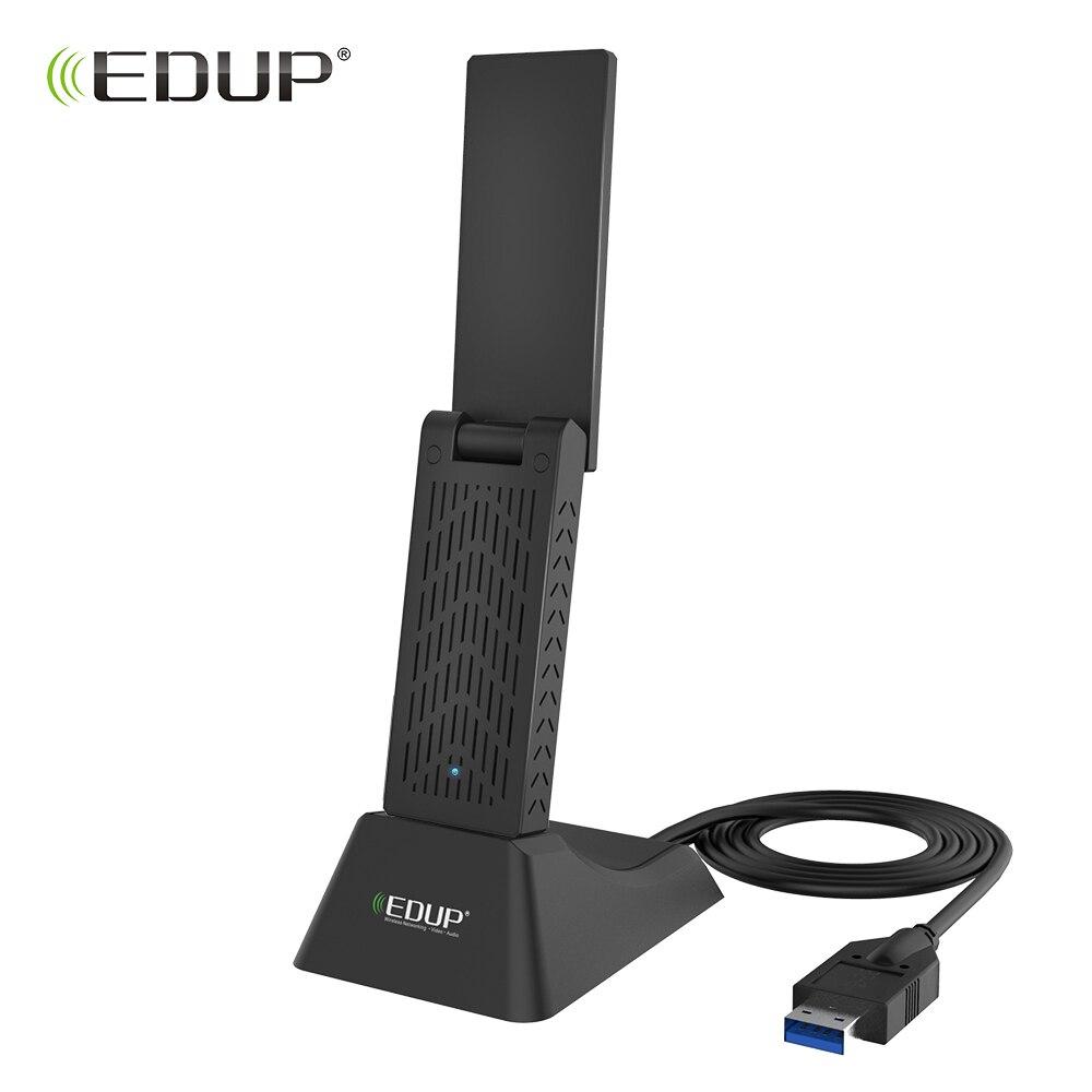 Adaptateur WiFi USB EDUP 5 Ghz USB 3.0 carte réseau 1900 Mbps récepteur Wi-Fi avec adaptateur Ethernet 802.11ac avec câble d'extension