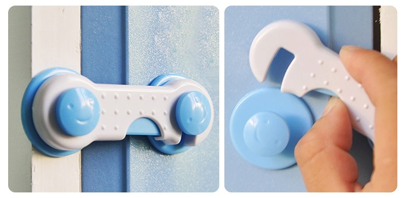 Child drawer lock multifunctional baby clip cabinet lock refrigerator baby safety products7
