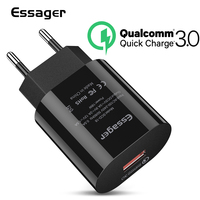 Essager Quick Charge 3.0 USB Charger QC3.0 QC Fast Charging EU Plug Adapter Wall Mobile Phone Charger For iPhone Samsung Xiaomi